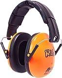 Edz Kidz Safe From Sound Ear Defenders. Adjustable Headband Ear Muffs For Kids (Tangy Orange)