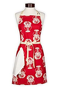 Lynne's Whim Lobsters Made in USA Apron (Red)