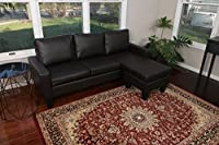 Large Espresso Brown Leather Modern Contemporary Upholstered Quality Left or Right Adjustable Sectional from Superior Importers Company