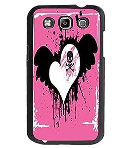ColourCraft Love Heart Design Back Case Cover for SAMSUNG GALAXY GRAND QUATTRO I8552 / WIN I8550