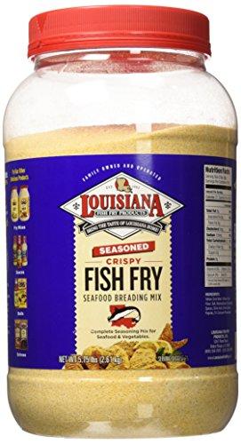 Louisiana Fish Fry Gallon Seasoned Crispy Fish Fry Breading Mix - 5.75 lbs.