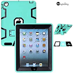 iPad 4 Case, iPad 3 Case, iPad 2 Case, MagicSky Heavy Duty Apple iPad Case, Shock-Absorption / High Impact Resistant Rugged Hybrid Dual Layer Armor Defender for iPad with Retina Display (iPad 4th Generation), Full Body Protec
