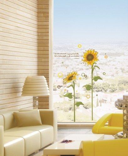 Imagen 1 de Girasoles y cita - Mural - Pegatinas Pared Casa Art Deco Pegatinas de pared