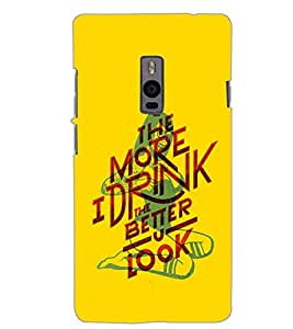 ONE PLUS TWO MORE I DRINK Back Cover by PRINTSWAG