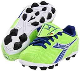 Diadora Soccer Forza MD JR Youth Soccer Shoe (Toddler/Little Kid/Big Kid),Lime Green/Dark Royal,5.5 M US Big Kid