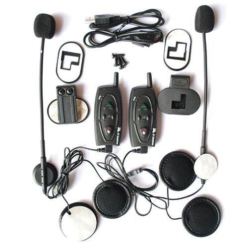 Bravolink@2 Pcs 500Meter Bluetooth Motor Helmet Intercom With Fm Radio For 3 Riders