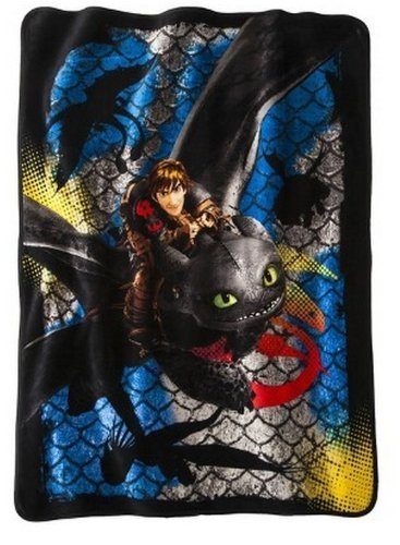"Great Deal! How to Train Your Dragon 2 Dragon Scale Super Plush Throw 46""x60"""