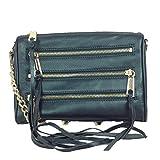 Rebecca Minkoff Mini 5 Zip Convertible Crossbody; Forest Green Metallic Leather