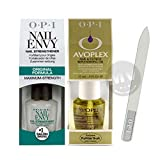 OPI Nail Envy Original 15ml + Avoplex Cuticle Oil 15ml + OPI Crystal Nail File