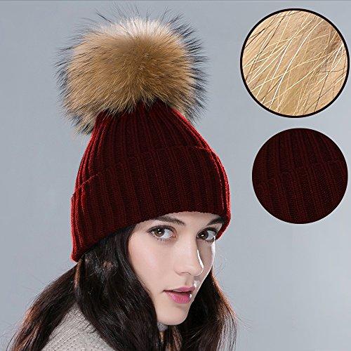 inextstationr-women-girls-beanie-knit-fur-pompon-ball-winter-warm-knitted-hat-crochet-beanie-ski-cap