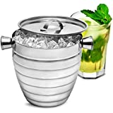 Manhattan Nights Stainless Steel Ribbed Ice Bucket 1.8ltr by bar@drinkstuff