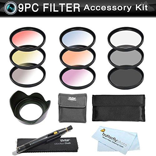 9Pc. Filter Kit For Nikon Df, D7100, D7000, D5200, D5300, D5100, D3200, D800, D700 D600 D610 D300S D90 Canon Eos 5D Mark Iii, Eos-1D X, 6D, 7D, 60D, 70D, T5I, T4I, Sl1, T3I, T3, Eos M Includes 67Mm 3Pc (Uv Cpl Nd8 Neutral Density) + 6Pc Color Filter Kit +