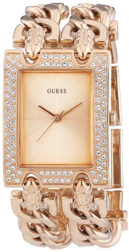 Guess  W0072L3 - Reloj de cuarzo para mujer, con correa de acero inoxidable, color oro rosa