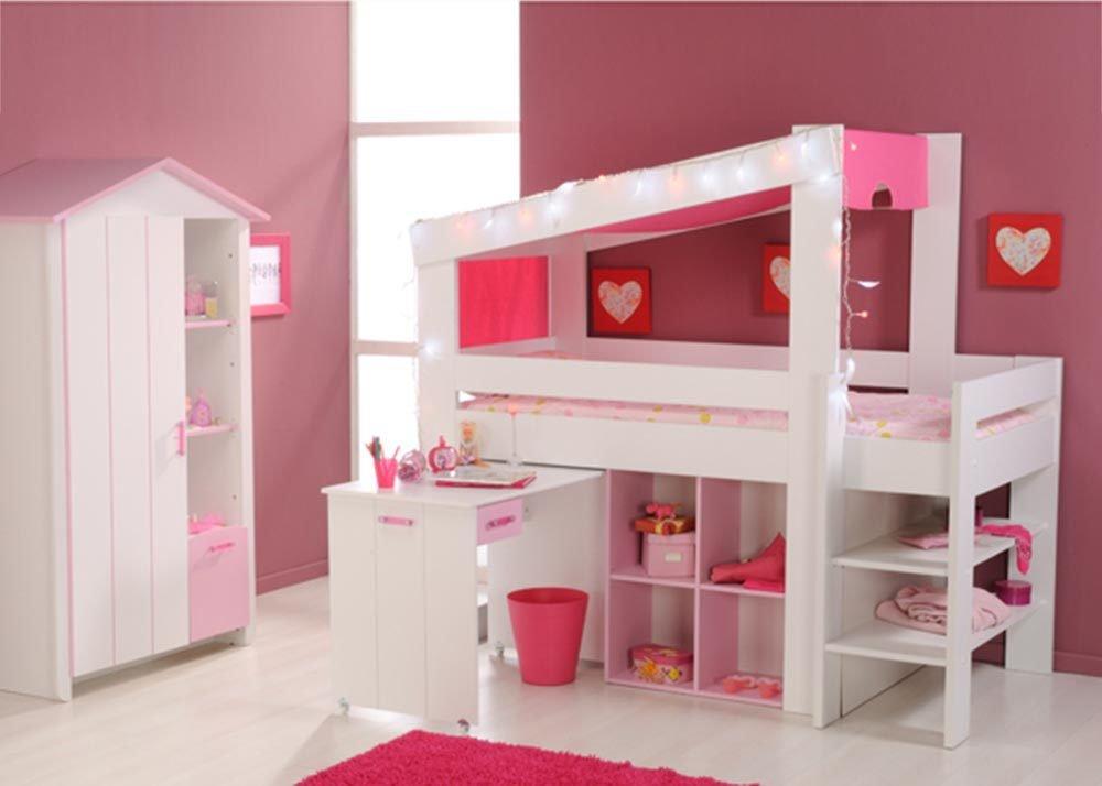 Jumbo-Möbel Kinderzimmer Set BIOTIFUL 6 in Weiß & Rosa bestellen