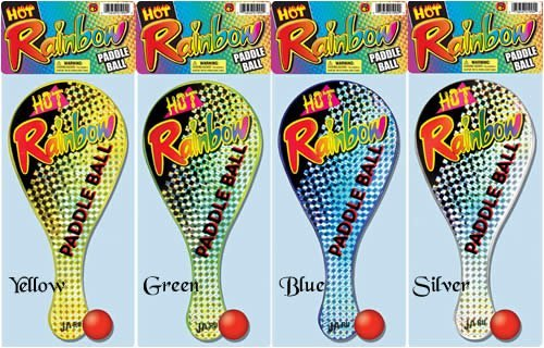 Ja-Ru Jaru Rainbow Paddle Ball 1 Ea