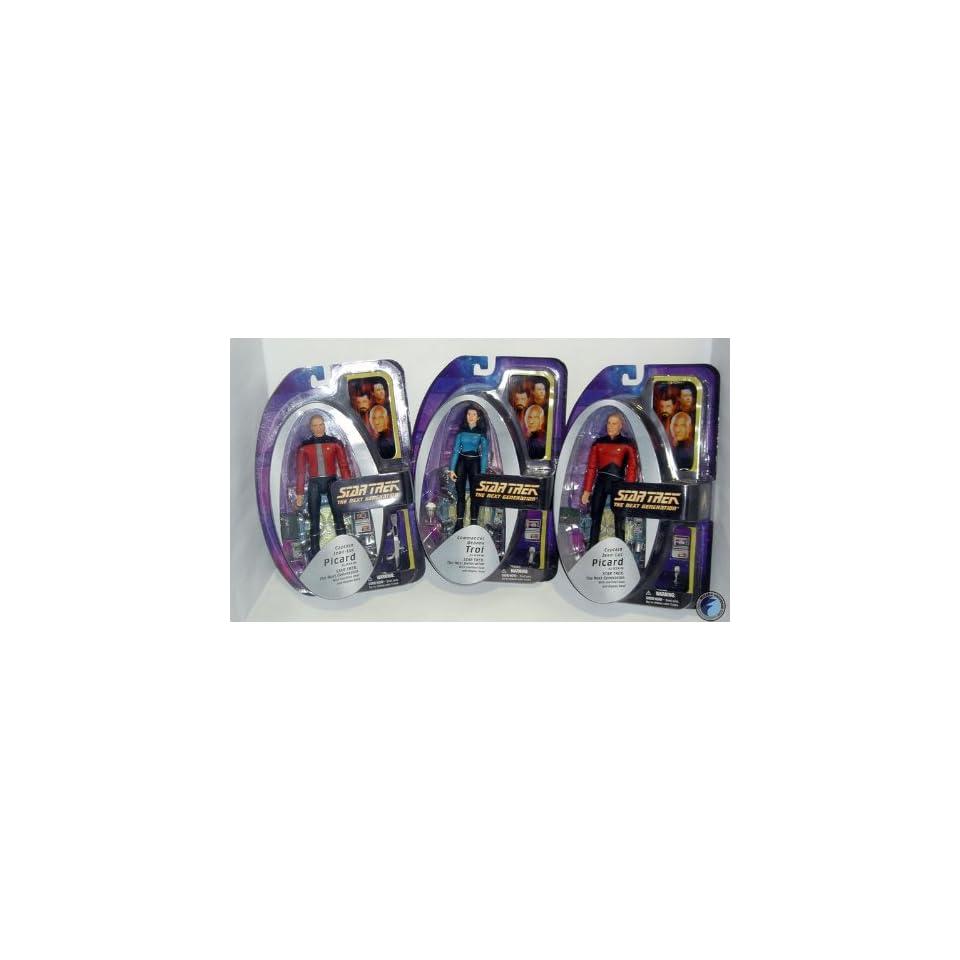 Star Trek The Next Generation Captain Jean Luc Picard & Counselor Deanna Troi Action Figures Case of 8 (4 Sets)