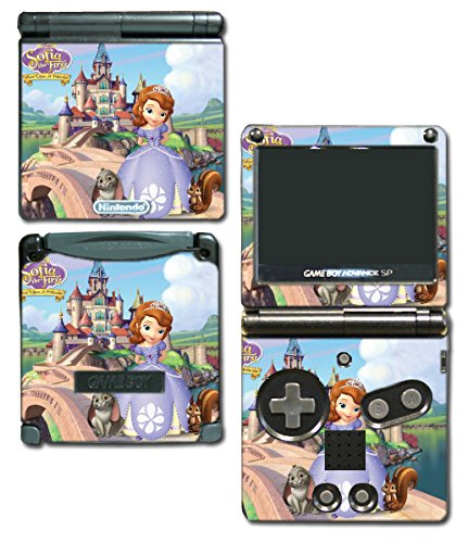 Princess Sofia the First Dress Doll Cartoon Video Game Vinyl Decal Skin Sticker Cover for Nintendo GBA SP Gameboy Advance System