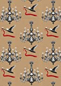 Swan & Chandelier Wrapping Paper