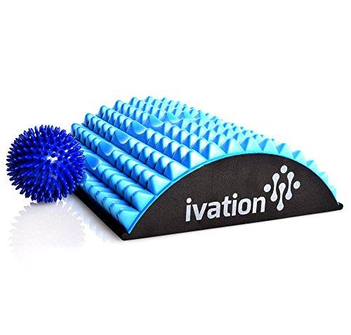 Ivation-Lumbar-Back-Stretcher-Device-for-Chronic-Lower-Back-Pain-BONUS-High-Density-Spiky-Massage-Ball