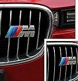 COGEEK 3D Metal Sport ///M Front Hood Grill Grille Badge Emblem Stickers Screws Car Styling Accessories for BMW M3 M5 X1 X5 X6 E39 E60