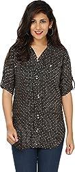 Yashasvi Women's Cotton Top (Black and White, M)