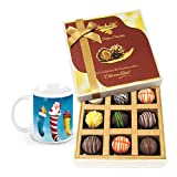 Classy Beautiful Collection Of Truffles With Christmas Mug - Chocholik Luxury Chocolates