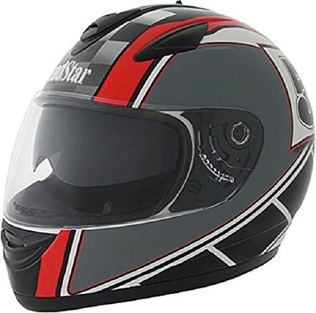 ROADSTAR integral casque revolution, noir/rouge avec motif pays de galles