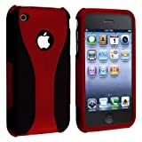 eForCity Snap-on Case compatible with Apple® iPhone® 3G / 3GS, Red / Black Cup Shape