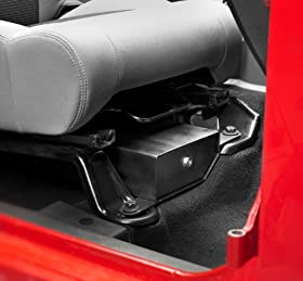 Bestop 42642-01 Black Under Seat Passenger Side Lock Box