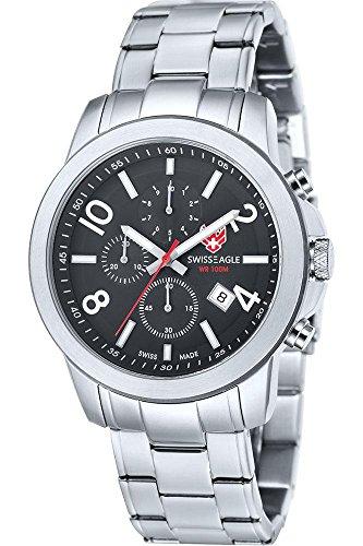 Swiss Eagle Reloj de cuarzo Weisshorn Plateado 44  mm