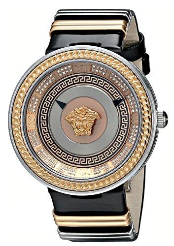 Versace-Womens-VLC050014-V-Metal-Icon-Analog-Display-Swiss-Quartz-Black-Watch