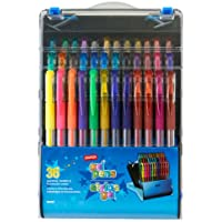 36-Pack Gel Pens Assorted Point Sizes and Ink Colors