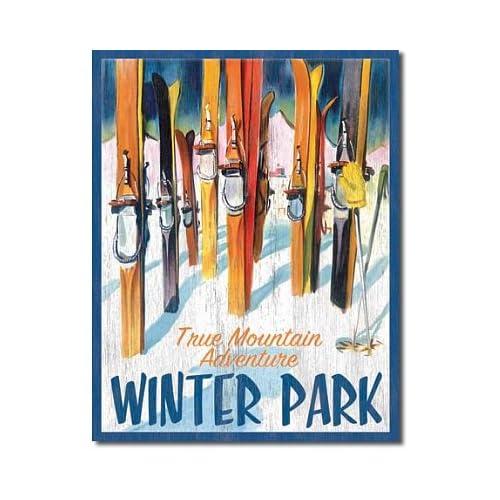 Amazon.com: Winter Park True Mountain Adventure Skiing Vintage Tin