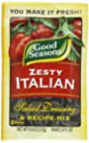 Good Seasons Salad Dressing & Recipe Mix, Zesty Italian, .6-Ounce Packets (Pack of 24)