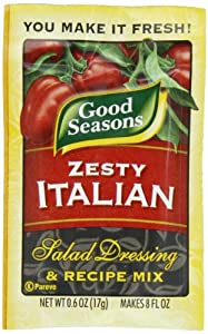 Good Seasons Salad Dressing & Recipe Mix, Zesty Italian, .6-Ounce Packets (Pack of 24)