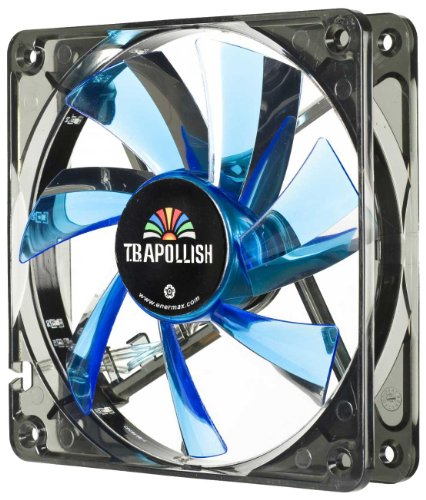 【Amazonの商品情報へ】ENERMAX PCケースファン TBアポリッシュ12cm ブルー UCTA12N-BL