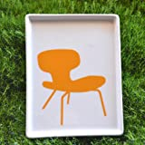 Ceramic Plate - Eames Molded Plywood Chair 1946