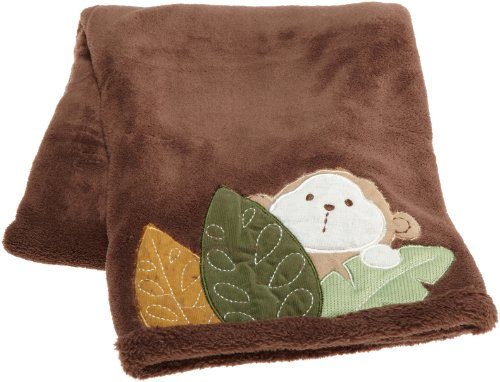 Carter's Monkey Bars Boa Blanket, Chocolate, 30 X 40