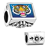 Pugster Flower Leaves Tiger Head Photo European Bead Fits Pandora Chamilia Biagi Charms Bracelet