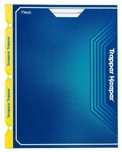 mead-trapper-keeper-snapper-trapper-2-pocket-portfolio-12-x-938-x-12-inches-blue-72654-by-mead