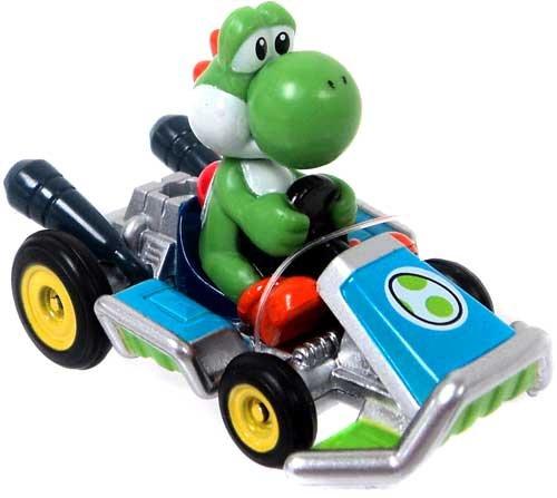 Mario Kart Tomy Ertl Mini Figure Yoshi in Go-Kart