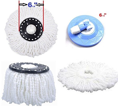 [Lot of 2 ++ ++ Replacement Microfiber Mop Head Refill For Magic Mop 360° Spin Mophead] (Mounted Animal Head Costume)