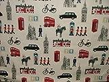 Prestigious Capital White London Themed Fabric By The Metre