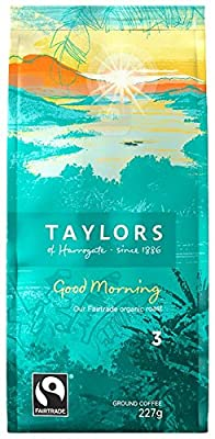 Taylors of Harrogate Organic Good Morning Ground Coffee 227 g (Pack of 3)