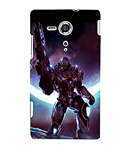 printtech Space Hero Warrior Game Back Case Cover for Sony Xperia SP::Sony Xperia SP M35h