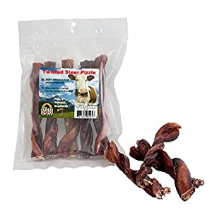 great dog twisted steer pizzle bully sticks 5 6 pet supplies. Black Bedroom Furniture Sets. Home Design Ideas