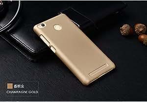 Nkarta (TM) Matte Rubberised Hard Case Back Cover For Xiaomi Redmi 3s / Redmi 3 Prime / Redmi 3 Pro - Gold
