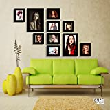 Set Of 10 Black Wall Photo Frame Collage, By Moti Art