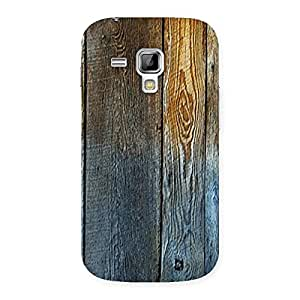Delighted Wall Bar Wood Back Case Cover for Galaxy S Duos