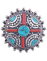 Tibet Jewelry,Coral Ring,Tibetan Jewelry,Ring - B00LB06D0O